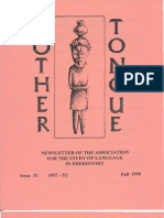 Mother Tongue Newsletter 31 (Fall 1998)