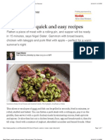 Nigel Slater's Quick and Easy Meat Recipes