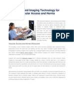 Ultrasound Imaging Technology for Vascular Access and Hernia