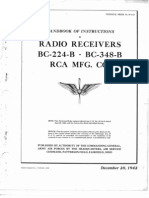 Radio Receiver BC-348-B User and Service Tech Manual