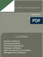 Conflicte Intr-o Organizatie