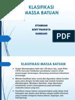 Klasifikasi Massa Batuan