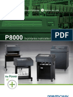 Printronix P8000 Line Matrix Printers Brochure French