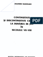 Madgearu Continuitate Si Discontinuitate La Dunarea de Jos (Sec. VII-VIII)