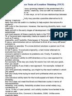 TTCT - Overview