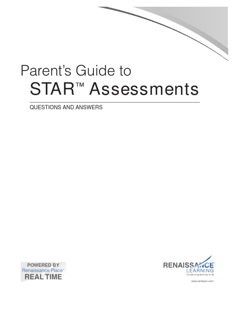 Parents Guide To Star Assessment Educational Assessment 214 Views