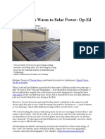 Homeowners Warm to Solar Power