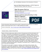 Census Politics and Ethnicity in the Western Balkans