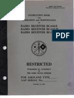 Radio Receiver BC-348-E Operations, Maintenance, and Repair Manual