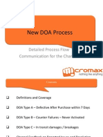 DOA New Process Channel Communication October 4-OT
