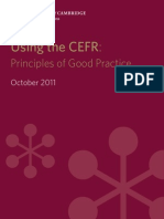 Using Cefr Principles of Good Practice