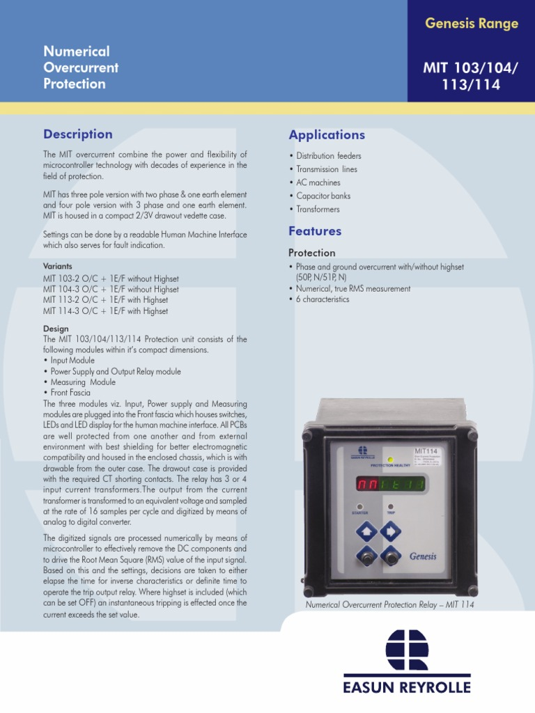 mit 103 104 113 114 relay power supply rh es scribd com Refrigerator Compressor Start Relay Diagram GE Control Relays