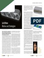 Leichtbau - Motive und Strategien, Esch, NEUE MOBILITÄT Januar 2012