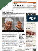 Mandela's Jewish Comrades / Haaretz 30.7.13