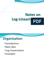 Notes on Log-Linearization