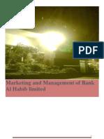 maekreting and management of bank al habib (khawar19_s@yahoo.com