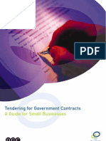Tendering for Government Contracts - A Guide for Small Businesses