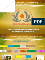 Investment Potential of Food Industry of the Republic of Uzbekistan