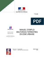 TTA 980 Manuel d Emploi Des Forces Terrestres en Zone Urbaine France 2005