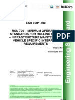 Infrastructure Maintenance Vehicle Specific Interface Requirements