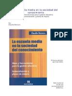 ROMERO Claudia La Escuela Media en La Sociedad Del Conocimiento