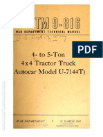 Tm 9-816 AUTOCAR U 7144
