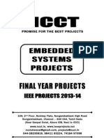 2013 IEEE Embedded System Project Titles, NCCT IEEE 2013-14 Project List