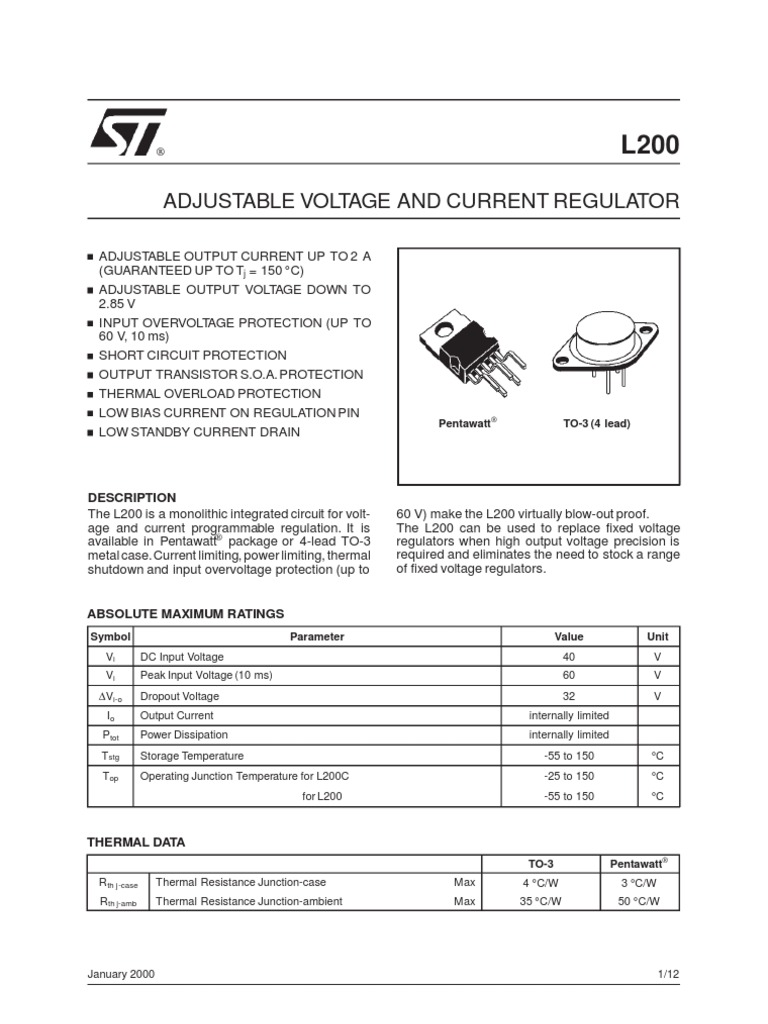 L200 Datasheet Electronic Circuits Battery Charger Simple Speed Diagram Dc Motor Control Circuit