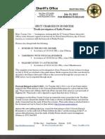 David Norman Arrest Affidavit and Release