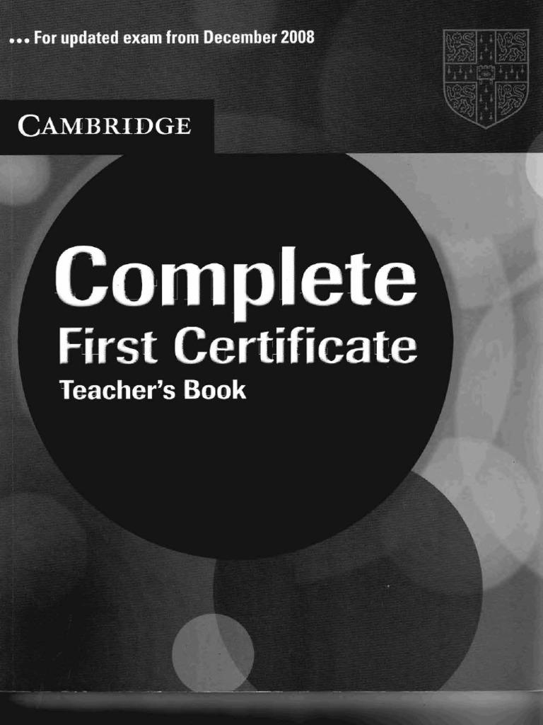 61573614 Complete First Certificate Teacher S Book Pdf