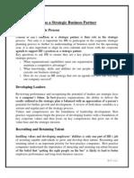 HR as a Strategic Business Partner (GROUP 3)