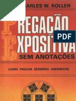 PREGAÇÃO EXPOSITIVA Sem Anotações - Charles W. Koller - Original