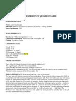Anant Himatsingka GD Pi Questionnaire