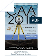 CAA2012 Booklet