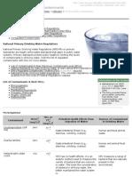 Drinking Water Contaminants EPA - 1