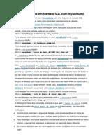 Extraindo Dados Em Formato SQL Com