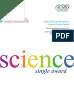 GCSE SCI Single Award REVISED Specification 6571 1