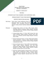 2007_Peraturan Menteri Pendidikan Nasional Nomor 16 Tahun 2007 Tentang Standar