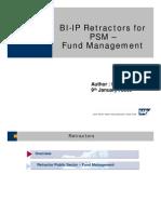 BI-IP Retractors for PSM - Fund Management