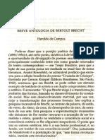 Breve Antologia Bert. Brecht - Aroldo de Campos