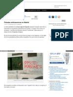 Pintadas antimasónicas en Madrid