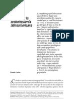 Laclau, Ernesto - La Deriva Populista y La Centroizquierda Latinoamericana [2006]