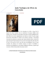 A profundidade Teológica do Ofício da Imaculada Conceição