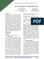 Implementation of Adaptive Viterbi Decoder