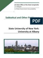 130731 UAlbany Sabbatical Audit