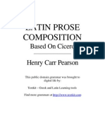 Latin Prose Composition Based on Cicero