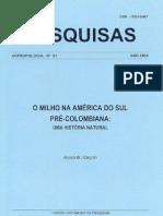 o Milho Na America Do Sul
