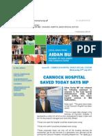 News Bulletin from Aidan Burley MP #68 - CANNOCK HOSPITAL SAVED SPECIAL EDITION