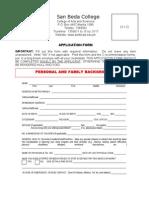 CAS Application Form 2012