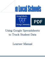 Google Spreadsheet and Student Data Manual